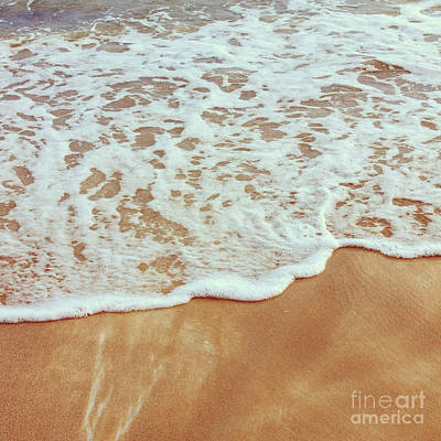 Keith Richards - Soft wave of the sea on the sandy beach by Mohamed Elkhamisy