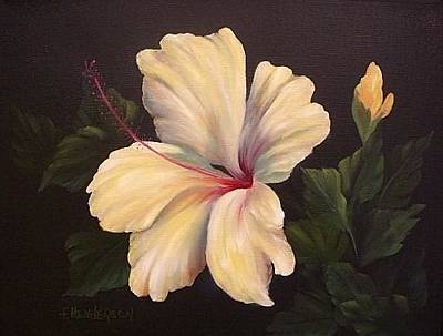 Painting - Soft Yellow Hibiscus by Francine Henderson