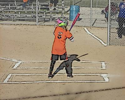 Art Print featuring the photograph Softball Star by Michael Porchik