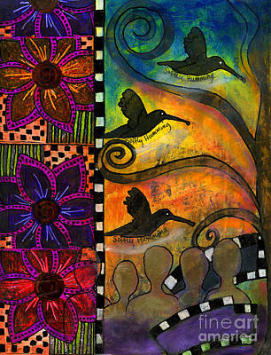 Art Journal Mixed Media - Softly Humming by Angela L Walker