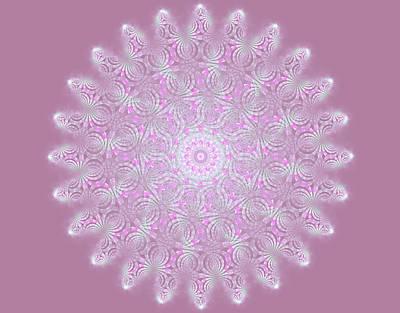 Digital Art - Softly Purple by Sandy Keeton
