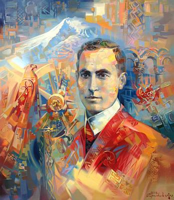 Painting - Soghomon Tehlirian by Meruzhan Khachatryan