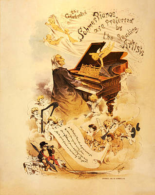 Angel Photograph - Sohmer Piano Advert 1886 by Bill Cannon