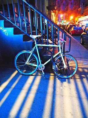 Soho Bicycle  Art Print by Joan Reese