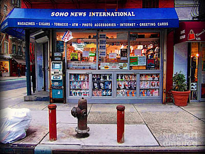 Photograph - Soho News by Miriam Danar