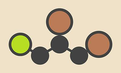 Propane Photograph - Soil Fumigant Molecule by Molekuul