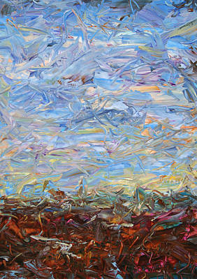 Abstract Landscape Painting - Soil Turmoil by James W Johnson