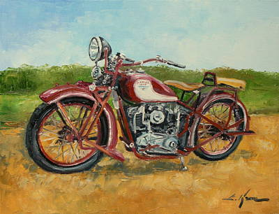 Sokol 1000 - Polish Motorcycle Art Print