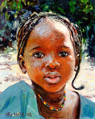 African Child Painting - Sokoro by Tilly Willis