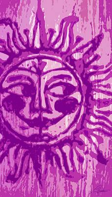 Digital Art - Sol - Fuschia by Larry Hunter