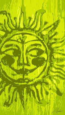 Digital Art - Sol - Lime by Larry Hunter