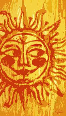 Digital Art - Sol - Orange by Larry Hunter