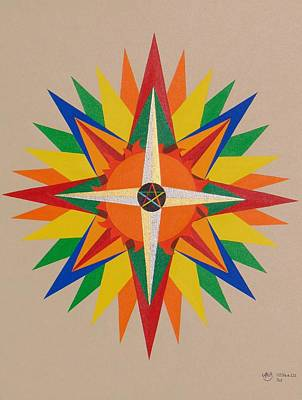 Pentagram Painting - Sol by Adrien Barlow