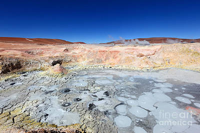 Mudpot Photograph - Sol De Manana Geothermal Field by James Brunker