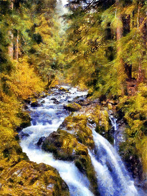 Digital Art - Sol Duc Falls by Kaylee Mason