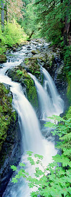 Gentle Cascades Photograph - Sol Duc Falls Olympic National Park Wa by Panoramic Images