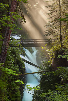 Sol Duc Falls Art Print by Ryan Manuel