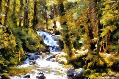 Digital Art - Sol Duc Near Hot Springs by Kaylee Mason