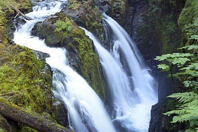 Waterfall Photograph - Sol Duc Waterfalls In Olympic National Park by King Wu
