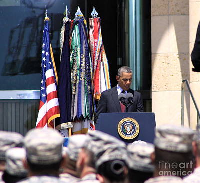 Obama Family Photograph - Solace Fort Hood - No.9182 by Joe Finney