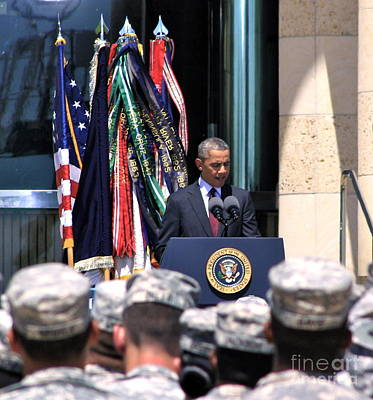 Obama Family Photograph - Solace Fort Hood - No.9223 by Joe Finney