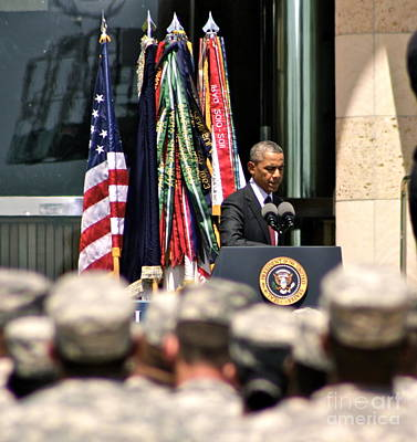 Obama Family Photograph - Solace Fort Hood - No.9248 by Joe Finney