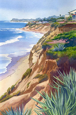 Aloe Painting - Solana Beach Ocean View by Mary Helmreich