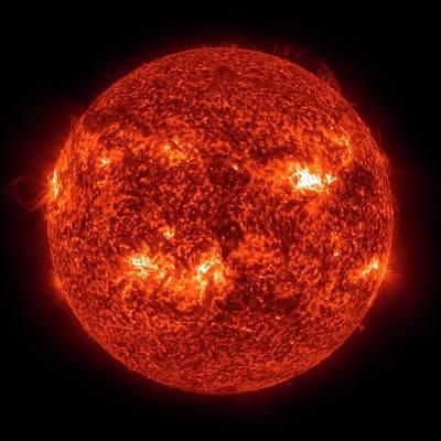 Ultraviolet Photograph - Solar Activity by Nasa/gsfc-svs/sdo Science Team/virtual Solar Observatory