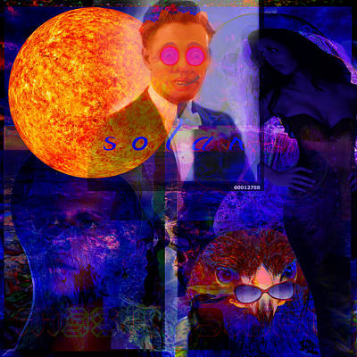 Solar Digital Art - Solar And The Woman by Joseph Mosley