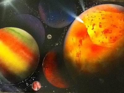 Solar Art Print by Angel Griffin