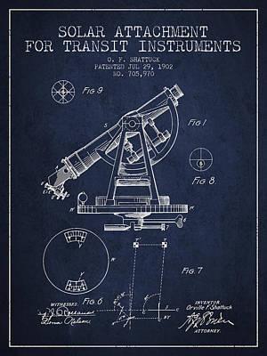 Solar Attachement For Transit Instruments Patent From 1902 - Nav Art Print