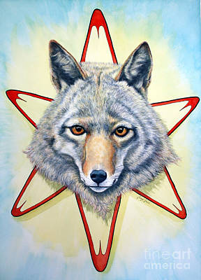 Solar Coyote Original by Joey Nash