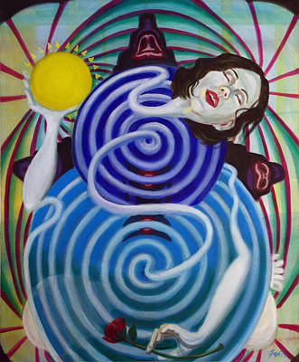 Rose Pleasure Painting - Solar Descent by Mike Fahl