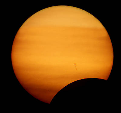 Photograph - Solar Eclipse 2012 by Jason Politte