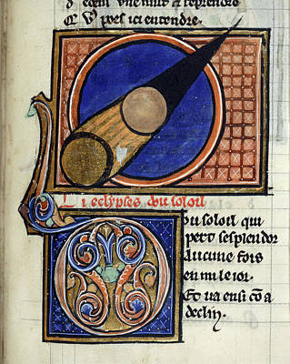 Bible Photograph - Solar Eclipse by British Library