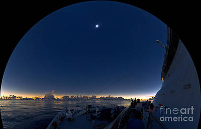 Solar Eclipse, Fisheye View Art Print