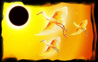 Solar Eclipse Painting - Solar  Eclipse by Hartmut Jager