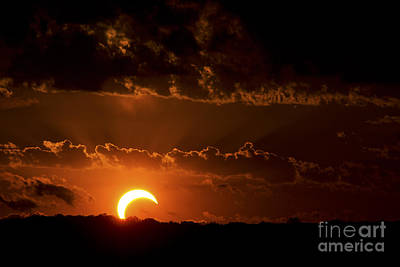 Photograph - Solar Eclipse by Ryan Smith