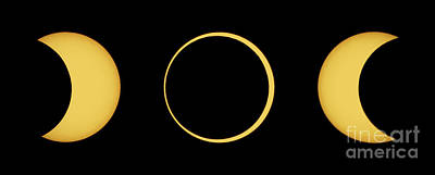 Solar Eclipse Sequence Art Print by John Chumack