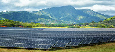 Repetition Photograph - Solar Energy Panels On Field, Poipu by Panoramic Images