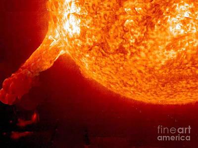 Photograph - Solar Eruption Flare By Nasa by Merton Allen