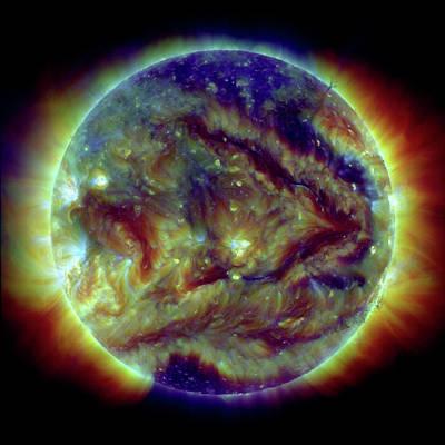 Stellar Photograph - Solar Filaments by Nasa/sdo
