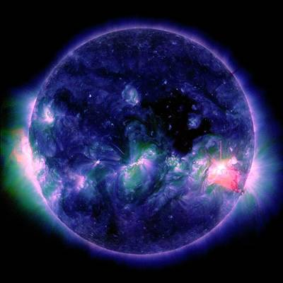 Ejecting Photograph - Solar Flare by Nasa/sdo