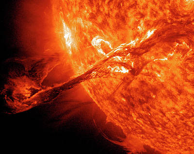 Ejecting Photograph - Solar Flare by Solar Dynamics Observatory/nasa