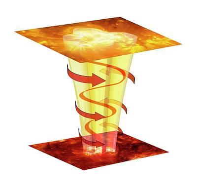 Plasma Photograph - Solar Magnetic Plasma Tornado by Mikkel Juul Jensen