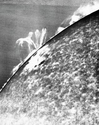 Solar Prominence Photograph - Solar Observations by Yerkes Observatory, University Of Chicago, Courtesy Emilio Segre Visual Archives/american Institute Of Physics