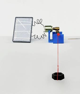 Solar Panel Generating Power Art Print