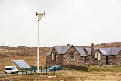 Self Photograph - Solar Panels And A Wind Turbine by Ashley Cooper