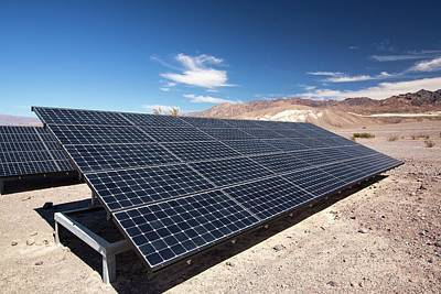 Hot Creek Photograph - Solar Panels by Ashley Cooper