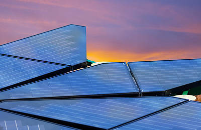Photograph - Solar Panels by Melinda Fawver